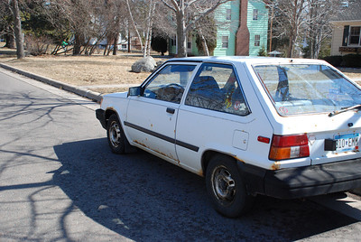 2011 04 02:  1983 Toyota Tercel, 2-Dr Hatch, Stick, White