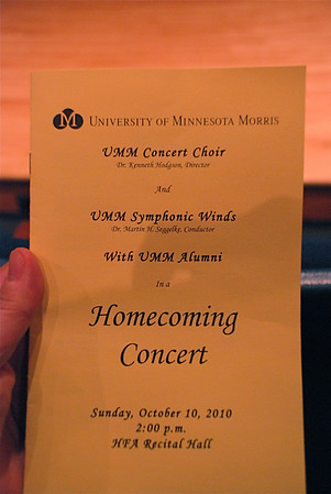 2010 10 10:  Univ MN Morris Homecoming Concert