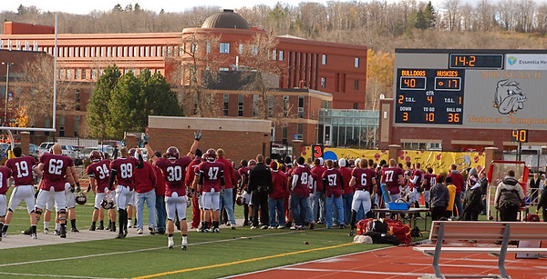 2010 10 30:  UnivMN Duluth Football (home) v St. Cloud State, UMD wins 40-17