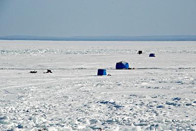 2015 02 22: Ice Fishing, Lake Superior, Duluth