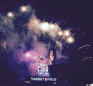 2015 08 14:  Twins-Cleveland, baseball, Target Field